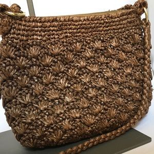 Beaded Straw Bag